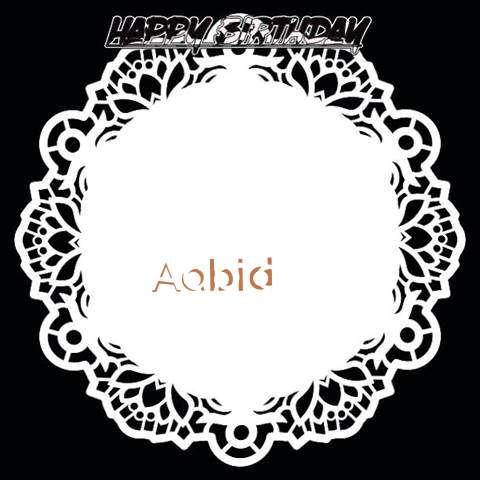 Happy Birthday Aabid Cake Image