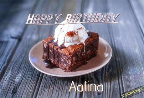Happy Birthday Aalina Cake Image
