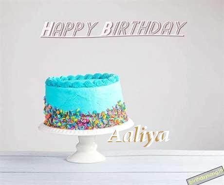 Happy Birthday Aaliya Cake Image