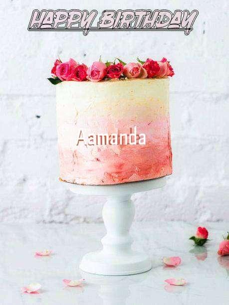 Happy Birthday Cake for Aamanda