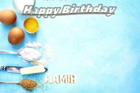 Happy Birthday Cake for Aamir
