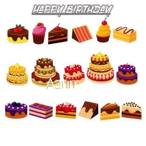 Happy Birthday Aarin Cake Image