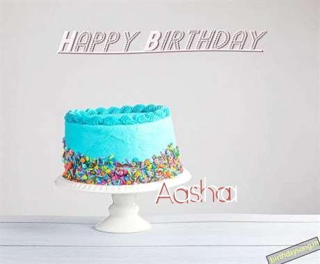 Happy Birthday Aasha Cake Image