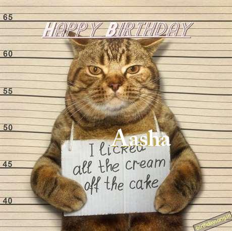 Happy Birthday Cake for Aasha