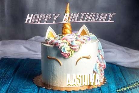 Happy Birthday Cake for Aashiya