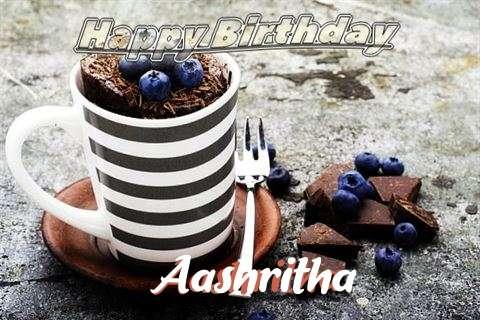 Happy Birthday Aashritha Cake Image