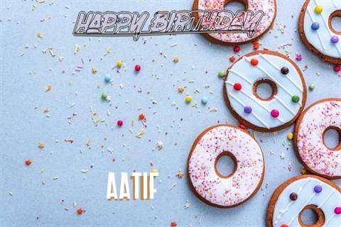 Happy Birthday Aatif Cake Image
