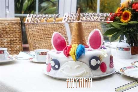 Happy Birthday Cake for Aayana