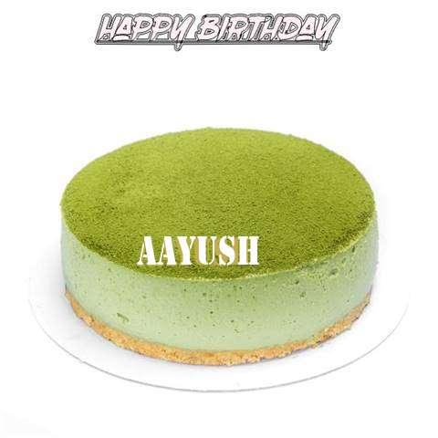Happy Birthday Cake for Aayush