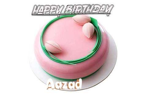 Happy Birthday Cake for Aazad