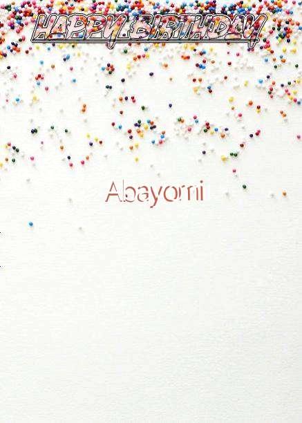 Happy Birthday Abayomi