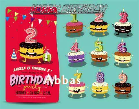 Happy Birthday Abbas Cake Image