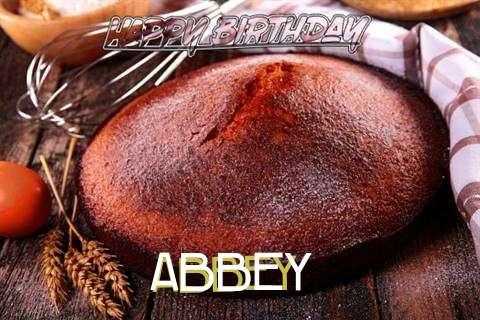 Happy Birthday Abbey Cake Image