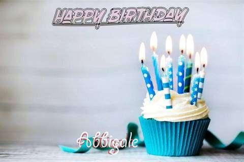 Happy Birthday Abbigale Cake Image