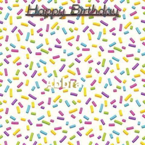 Happy Birthday Wishes for Abbra