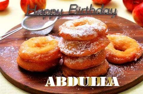 Happy Birthday Wishes for Abdulla