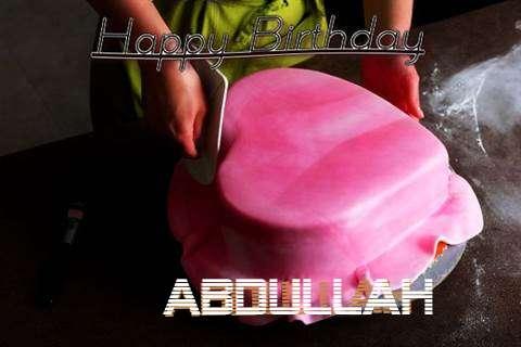 Happy Birthday Cake for Abdullah