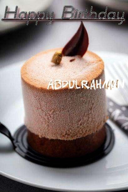 Happy Birthday Cake for Abdulrahman