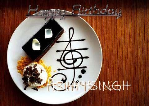 Happy Birthday Cake for Abhaysingh