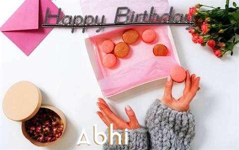Happy Birthday Abhi Cake Image