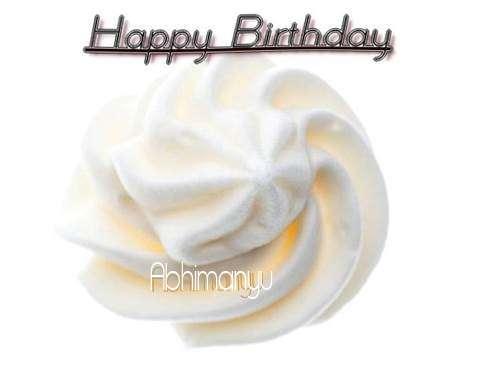 Happy Birthday Cake for Abhimanyu