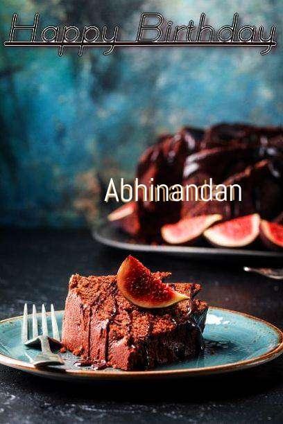 Happy Birthday Abhinandan Cake Image
