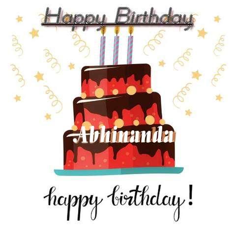 Happy Birthday Cake for Abhinandan