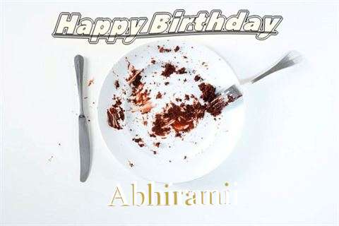 Birthday Wishes with Images of Abhirami
