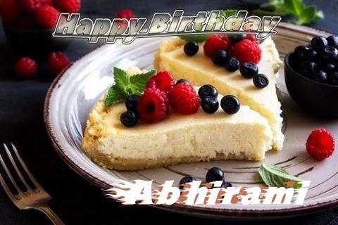 Happy Birthday Wishes for Abhirami