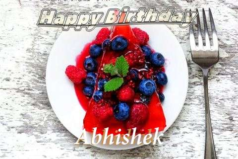 Happy Birthday Cake for Abhishek