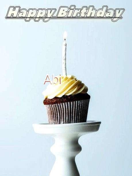 Happy Birthday Abi Cake Image