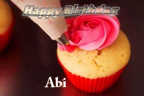 Happy Birthday Wishes for Abi