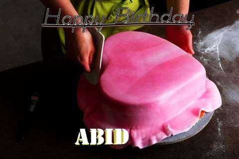 Happy Birthday Cake for Abid