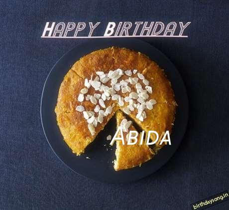 Happy Birthday Abida Cake Image