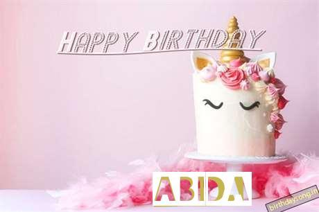 Happy Birthday Cake for Abida
