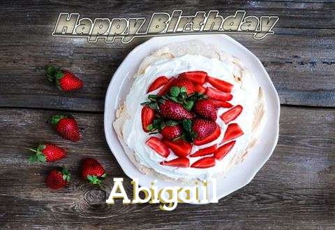 Happy Birthday Abigail Cake Image