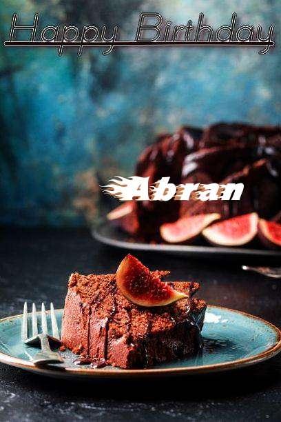 Happy Birthday Abran Cake Image