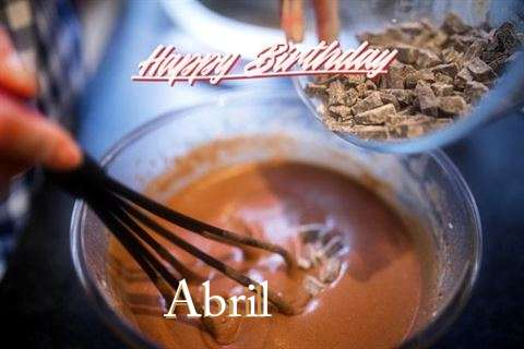 Happy Birthday Abril Cake Image