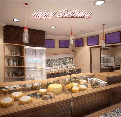 Happy Birthday Abrina Cake Image