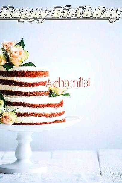 Happy Birthday Achamillai Cake Image