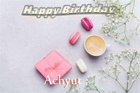 Happy Birthday Achyut Cake Image