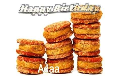 Happy Birthday Cake for Adaa