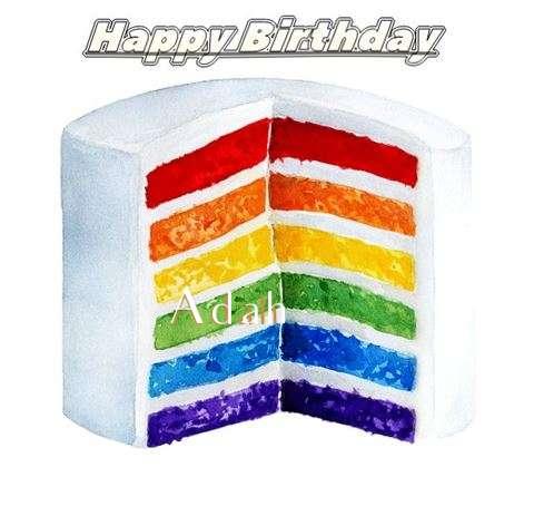 Happy Birthday Adah Cake Image