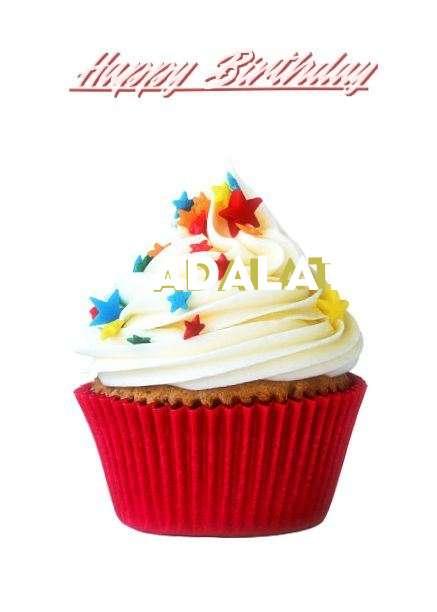 Happy Birthday Adalat Cake Image