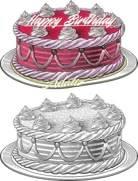 Happy Birthday Adaliz Cake Image