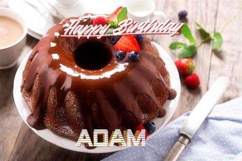 Happy Birthday Adam Cake Image