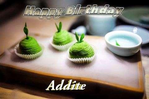 Happy Birthday Addite Cake Image