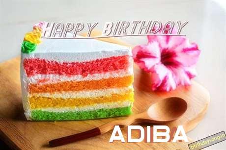 Happy Birthday Adiba Cake Image