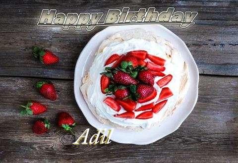 Happy Birthday Adil Cake Image