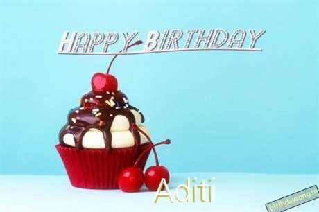 Happy Birthday Aditi Cake Image